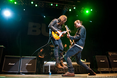 Chris Traynor and Gavin Rossdale of Bush perform on December 3, 2011 during 97X Next Big Thing at 1-800-ASK-GARY Amphitheatre in Tampa, Florida