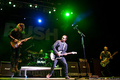 Chris Traynor, Robin Goodridge, Gavin Rossdale, and Corey Britz of Bush perform on December 3, 2011 during 97X Next Big Thing at 1-800-ASK-GARY Amphitheatre in Tampa, Florida