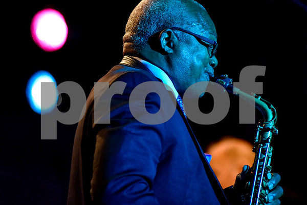 Ronald Carter performs during the Tyler Junior College Jazz Festival at Liberty Hall in Tyler, Texas, on Wednesday, March 2, 2017. Area middle and high school jazz bands performed throughout the day, culminating in the TJC Jazz Ensembles' performance each evening. (Chelsea Purgahn/Tyler Morning Telegraph)