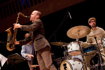 Chris Speed of the Claudia Quintet plays at the Paul Shaghoian Concert Hall.