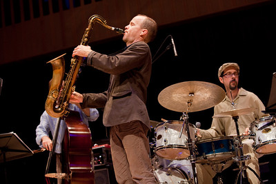 Fresno has a thriving Jazz Scene. Here Chris Speed plays with the group the Claudia Quintet at the Paul Shaghoian Concert Hall in Fresno.