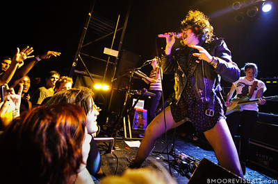 Ana Rezende, Lovefoxxx, and Carolina Parra of CSS perform at State Theatre in St. Petersburg, Florida on April 29, 2011