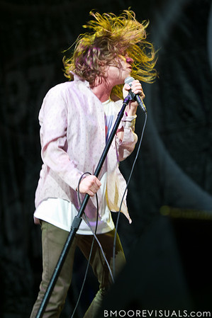 Matthew Shultz of Cage The Elephant performs on December 3, 2011 during 97X Next Big Thing at 1-800-ASK-GARY Amphitheatre in Tampa, Florida