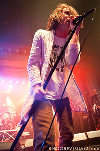 "Matt Schultz of Cage The Elephant performs in support of their ""Thank You, Happy Birthday"" on May 24, 2011 at The Ritz Ybor in Tampa, Florida"