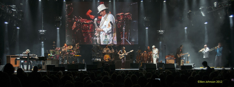 Carlos Santana with his band celebrating his 64th Birthday on his 2012 Tour performing at The Borgata Hotel Casino in Atlantic City New Jersey July 20, 2012