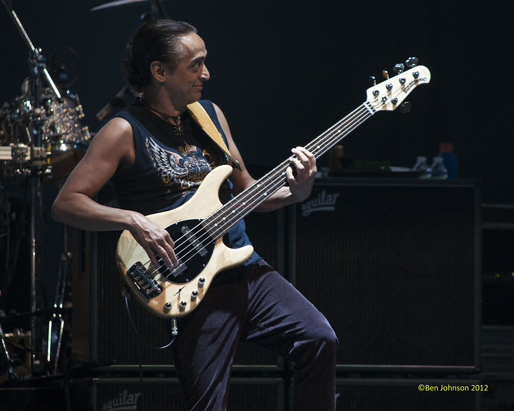 Benny Rietveld with Carlos Santana celebrating his 64th Birthday on his 2012 Tour performing at The Borgata Hotel Casino in Atlantic City New Jersey July 20, 2012