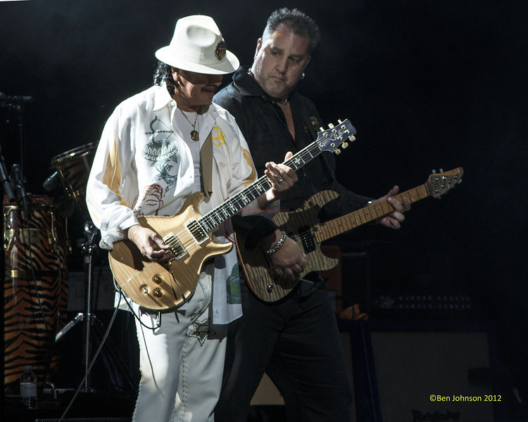 Carlos Santana celebrating his 64th Birthday on his 2012 Tour performing at The Borgata Hotel Casino in Atlantic City New Jersey July 20, 2012