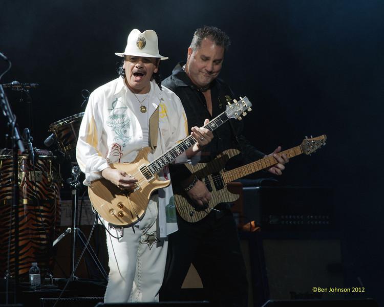 Carlos Santana celebrating his 64th Birthday on his 2012 Tour performing at The Borgata Hotel Casino in Atlantic City New Jersey July 20, 2012