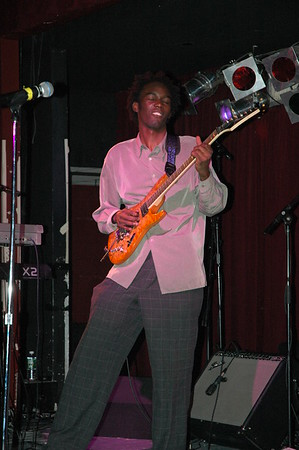 Guitar player from the Prince Tribute band..