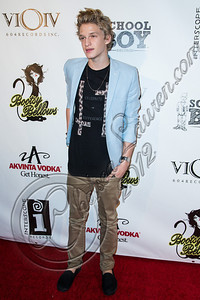 """WEST HOLLYWOOD, CA - SEPTEMBER 20:  Singer Cody Simpson arrives at the album release party for Carly Rae Jepsen's debut record """"Kiss"""" at Bootsy Bellows on September 20, 2012 in West Hollywood, California.  (Photo by Chelsea Lauren/WireImage)"""