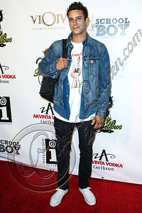 "WEST HOLLYWOOD, CA - SEPTEMBER 20:  DJ Devin Lucien arrives at the album release party for Carly Rae Jepsen's debut record ""Kiss"" at Bootsy Bellows on September 20, 2012 in West Hollywood, California.  (Photo by Chelsea Lauren/WireImage)"