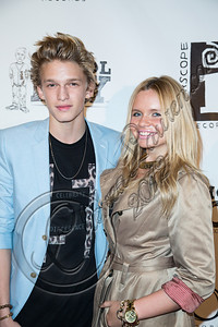 "WEST HOLLYWOOD, CA - SEPTEMBER 20:  Singer Cody Simpson (L) and sister Alli Simpson arrive at the album release party for Carly Rae Jepsen's debut record ""Kiss"" at Bootsy Bellows on September 20, 2012 in West Hollywood, California.  (Photo by Chelsea Lauren/WireImage)"