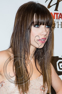 """WEST HOLLYWOOD, CA - SEPTEMBER 20:  Singer Carly Rae Jepsen arrives at the album release party for her debut record """"Kiss"""" at Bootsy Bellows on September 20, 2012 in West Hollywood, California.  (Photo by Chelsea Lauren/WireImage)"""