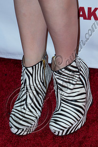 "WEST HOLLYWOOD, CA - SEPTEMBER 20:  Singer Carly Rae Jepsen (shoe detail) arrives at the album release party for her debut record ""Kiss"" at Bootsy Bellows on September 20, 2012 in West Hollywood, California.  (Photo by Chelsea Lauren/WireImage)"
