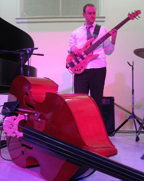 The Pulsar Triyo - Zach Kilgore on small bass, standup bass on ground 2