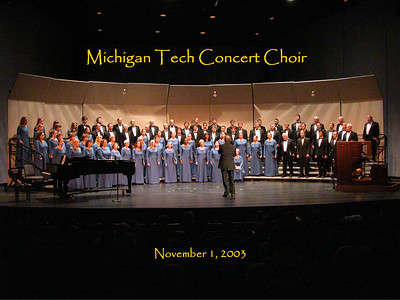 Cass Tech and MTU Concert Choir,  Nov. 2003
