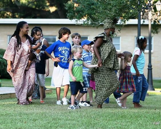 Chakaba Entourage at the Brazoria County Museum
