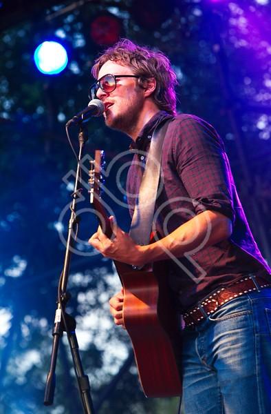 Charlie Mars performance at KGSR Blues on the Green at Zilker Park, Austin, TX 08-04-2010