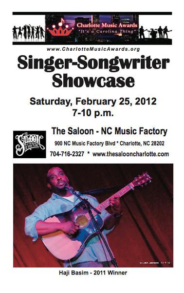 2012 Charlotte Music Awards Singer-Songwriter Showcase