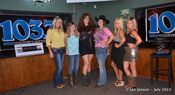 2013 Charlotte Music Awards Women of Country Showcase, Saturday, July 13, 2013 at In the Wind, Huntersville, NC    Contestants:   Tracy Wyatt, Nikki Fellows, Lilly Tallent, Kendra Hope, Kristy Lynn, Cassie McKee