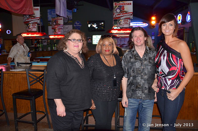 "2013 Charlotte Music Awards Women of Country Showcase, Saturday, July 13, 2013 at In the Wind, Huntersville, NC Terry Gage & judges: ""Blondy"" (Gwendolyn Chisolm), Darren Watts and Miss North Carolina 2008 Andrea Duke Panza"