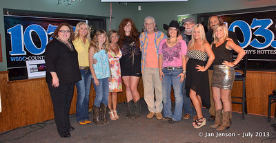 2013 Charlotte Music Awards Women of Country Showcase, Saturday, July 13, 2013 at In the Wind, Huntersville, NC     Terry Gage, Tracy Wyatt, Nikki Fellows, Lily Tallent, Jeff Cheen, Kendra Hope, Tim Harris, Kristy Lynn, Tian Garcia, Cassie McKee