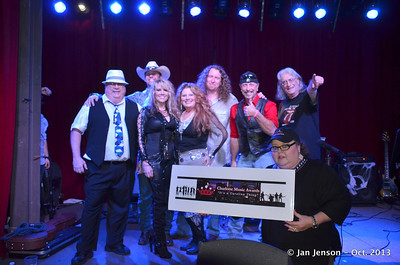 Michelle Leigh Band wins the 2013 Charlotte Music Awards Women of Rock Showcase  10-31-13