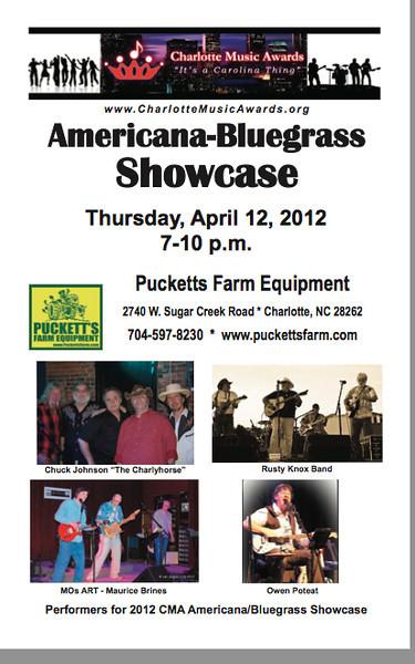 Charlotte Music Awards 2012 Americana/Bluegrass Showcase