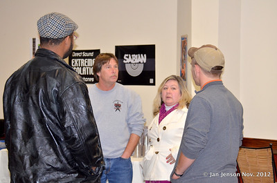 The Corzines talking to 2 members of Southern Experience Band