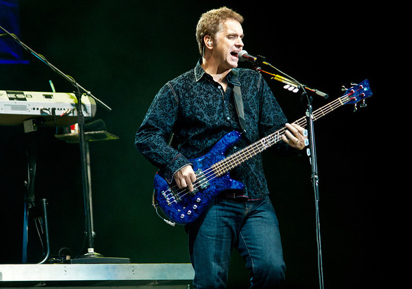 Jason Scheff on bass guitar for the legendary band Chicago live at the 2012 Freedom Fest in Fairfax Virginia.