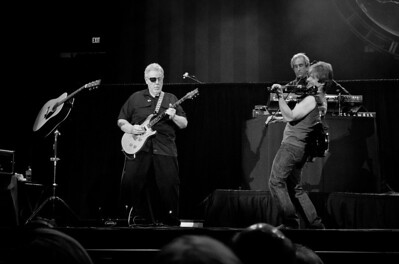 Richard Williams on guitar,Steve Walsh on lead vocals and keyboards and Dave Ragsdale on the fiddle at the 2012 Freedom Fest for Wounded Warriors at George Mason University, The Patriot Center in Fairfax, Virginia.