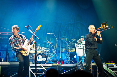 Keith Howland and James Pankow with Chicago live at The State Theater in New Brunswick New Jersey on May 14 2013.