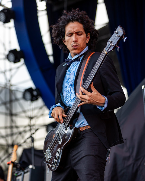 Chicano Batman opening for Vampire Weekend at the Farm Bureau Insurance Lawn at White River State Park. Photo by Tony Vasquez for Jams Plus Media.