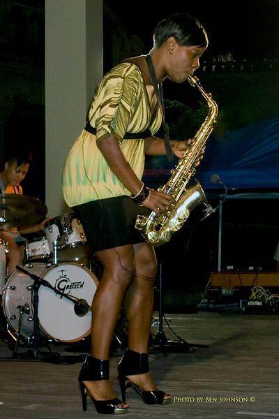 Tia Fuller - performing with The Tia Fuller Quartet - Chicken Bone Beach Jazz Series 2009 - Kennedy Plaza,  Atlantic City, New Jersey