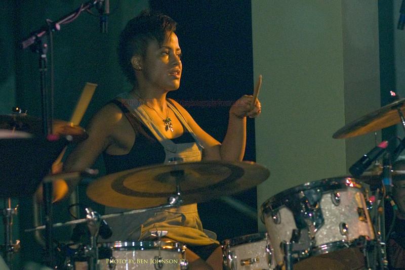 Kim Thompson - performing with The Tia Fuller Quartet - Chicken Bone Beach Jazz Series 2009 - Kennedy Plaza,  Atlantic City, New Jersey