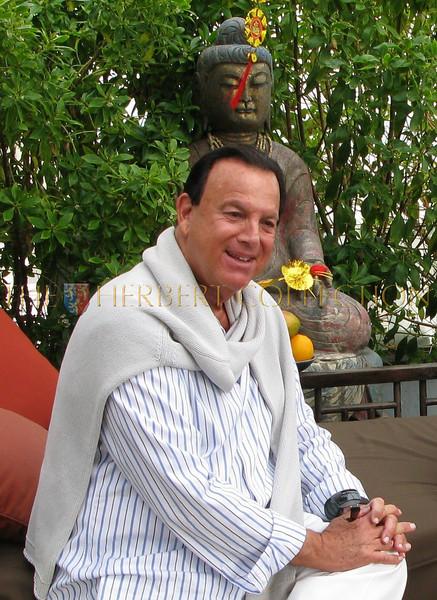 Allen Beeber,  enjoying the warm breeze of Malibu