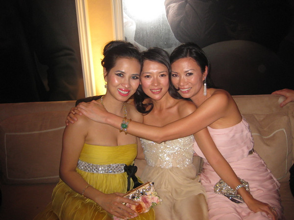 Chosan, Ziyi Zhang and Wendy Murdoch at The Oscars