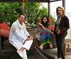 Allen Beeber, Chosan and Podi Constantiner enjoy the warm breeze of Malibu