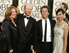 Director Ron Howard (2nd L) and wife Cheryl, producer Brian Grazer (2nd R) and an unidentified guest arrive at the 66th annual Golden Globe awards in Beverly Hills, California January 11, 2009.     REUTERS/Lucas Jackson (UNITED STATES)