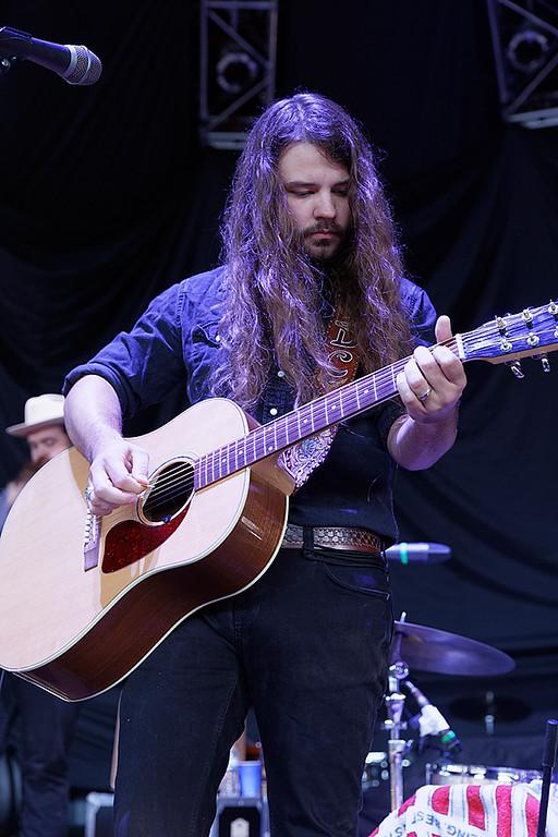 . Brent Cobb  live at DTE Music Theatre on 8-19-17. Photo  credit: Ken Settle