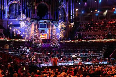 Royal Albert Hall organ and stage. 23 December 2012