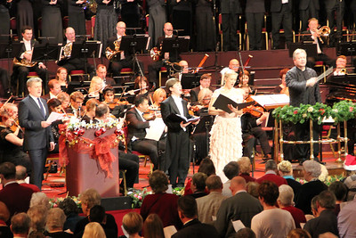Aled Jones, Laurence Kilsby (treble), Laura Mitchell (soprano) and David Hill (conductor) 23 December 2012
