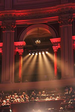 Gallary arch at Royal Albert Hall. 23 December 2012