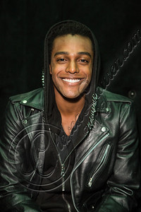 WEST HOLLYWOOD, CA - NOVEMBER 19:  Musician Austin Brown poses backstage at Myspace LIVE series at Key Club on November 19, 2012 in West Hollywood, California.  (Photo by Chelsea Lauren/WireImage)