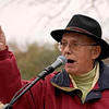 Merle Mollenkopf, Kent's poet laureate, addresses the crowd.