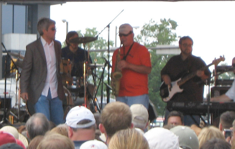 Taylor Hicks and Little Memphis Blues Orchestra perform Sunday afternoon at the Birmingham News/al.com Stage.