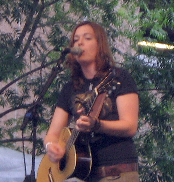 Brandi Carlile performs Sunday evening at the Mypeople.com Stage.