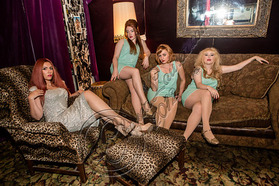 LOS ANGELES, CA - NOVEMBER 13:  (L-R) Singers Clairy Browne, Loretta Miller, Camilla McKewen and Ruby Jones pose backstage at The Mint on November 13, 2012 in Los Angeles, California.  (Photo by Chelsea Lauren/WireImage)