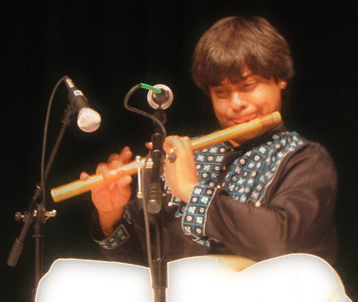 Shashank playing bamboo flute 2 [soft focus]