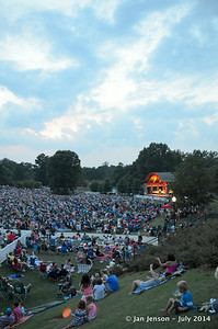 Crowd at Charlotte Symphony in Kannapolis Village Park